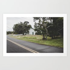 House on the Green - Hilo Art Print