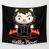 boys Wall Tapestries featuring Hello Boys by Fanboy30