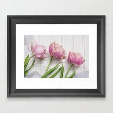 Tulips Three Framed Art Print