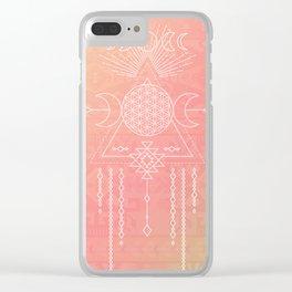 Tribal Moon Goddess Clear iPhone Case