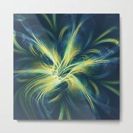 Fractal Flower Blue Palette Metal Print