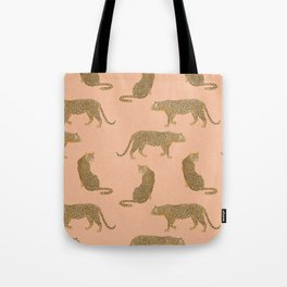 sunset leopards Tote Bag