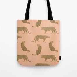 sunset leopards Tote Bag