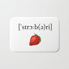 Strawberry Phonetic Bath Mat