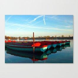 Rowing skips Canvas Print