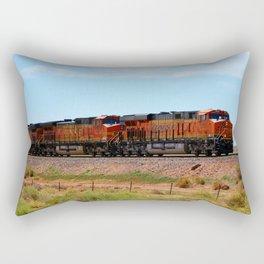 Orange BNSF Engines Rectangular Pillow