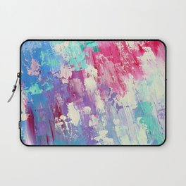 Pink and Blue Abstract Laptop Sleeve