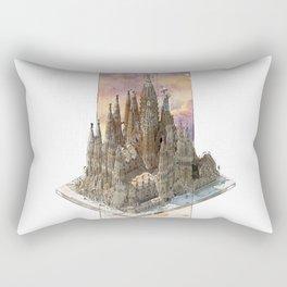 Barcelona Sagrada Familia - axonometric Rectangular Pillow