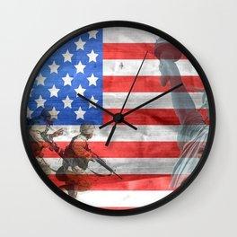Veterans American Flag Wall Clock
