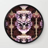 minerals Wall Clocks featuring Mira Minerals by lalaprints