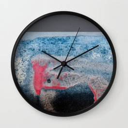Paint And Texture In Red White Blue Wall Clock