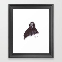Ghostface - Ballpoint Pen Illustration Framed Art Print