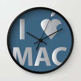 I heart Mac Wall Clock