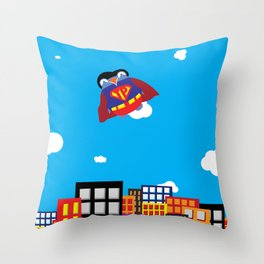 Pengwin that is Super Throw Pillow