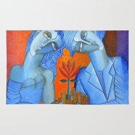 Blue Lovers Rug