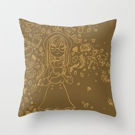 Autumn drawing Throw Pillow
