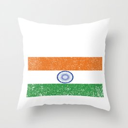 Indian National Flag Design India Country Vintage Gift Throw Pillow
