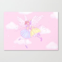 Sweet lolita angels Canvas Print