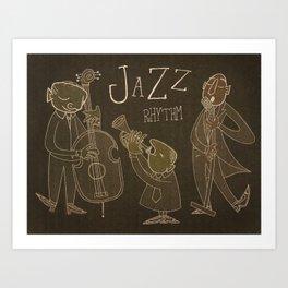 Jazz Rhythm Art Print
