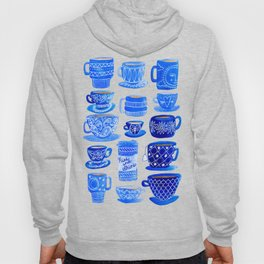 Coffee Mugs and Tea Cups - A study in blues Hoody