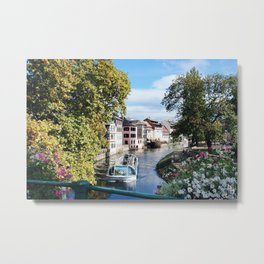 Strasbourg River View Metal Print
