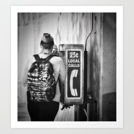 The Phone Call Art Print