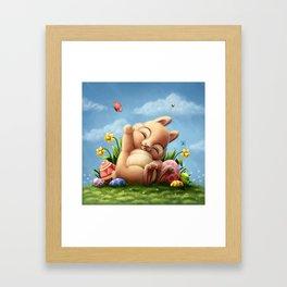 A little Easter bunny Framed Art Print