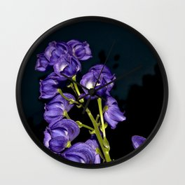 Dark Purple Elegance Wall Clock