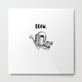 grow. Metal Print