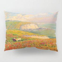 Václav Radimský (1867-1946) Normandy coast in bloom Impressionist Landscape Painting Bright Colors Pillow Sham