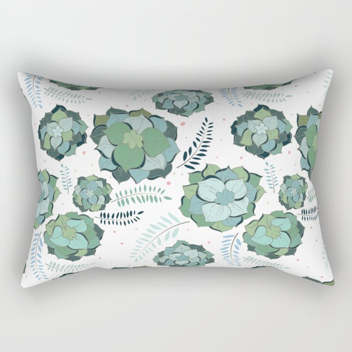 Succulents Rectangular Pillow