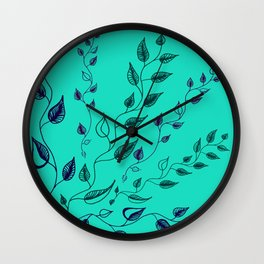 vines in limelight Wall Clock