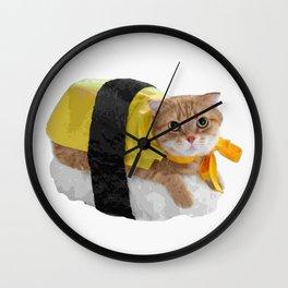 Sushi cat Wall Clock