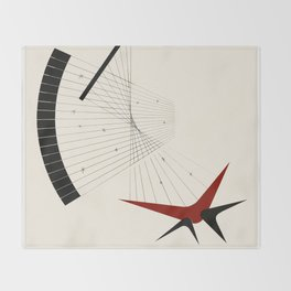 Mid Century Modern Boomerangs Throw Blanket