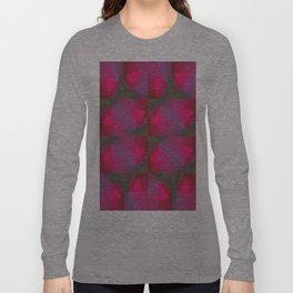 Geometric Strawberries Long Sleeve T-shirt