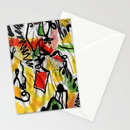 IS scarf 2 Relaxed Stationery Cards
