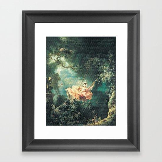 """Homage to Fragonard, """"The Swinging Stormtrooper"""". Framed Art Print"""