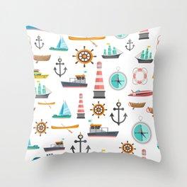 Cartoon Transport Tool Pattern Throw Pillow