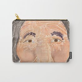 Face of a Nomad - White Carry-All Pouch