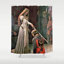 12,000pixel-500dpi - Edmund Blair Leighton - Accolade - Edmund Blair Leighton Shower Curtain