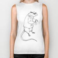 lab Biker Tanks featuring Lab Rat by Dylana R. Pinter