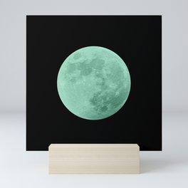 TEAL MOON // BLACK SKY Mini Art Print