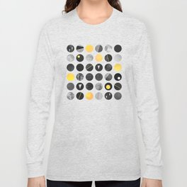 Dots / Yellow & Black Long Sleeve T-shirt