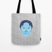 dwight schrute Tote Bags featuring Dwight Schrute - The Office by Kuki