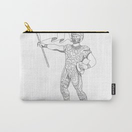 Quarterback Holding Flag Doodle Carry-All Pouch