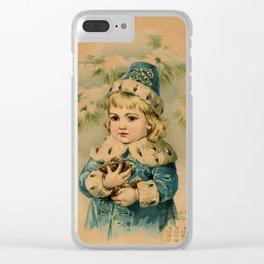 Russian Girl Maud Humphrey Clear iPhone Case