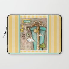 Every Day is a Gift - a collage by Diane Duda Laptop Sleeve