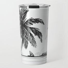 Beach graphic sketch art Travel Mug