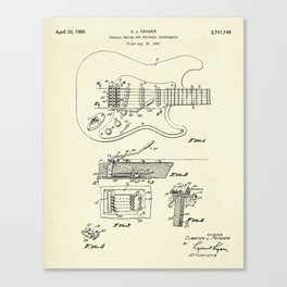 Tremolo Device for Stringed Instruments-1956 Canvas Print