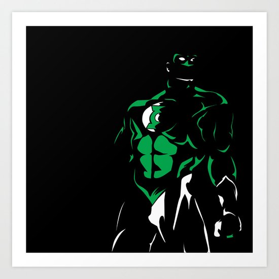 Green and White: Green Lantern's Light Art Print